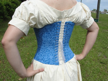 Blue Southern Belle Corset