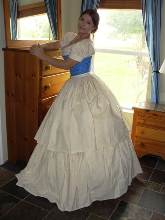 Civil War Southern Belle Victorian Gown 1860s