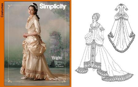 Simplicity 4244 Victorian pattern