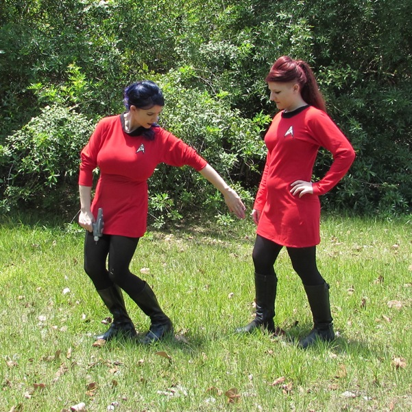 Star Trek Costume TOS Uniform Red Dress Time Travel Costumes